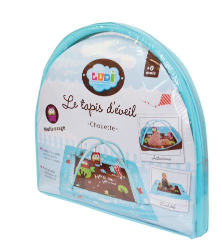 Emballage tapis rectangle Chouette de Ludi
